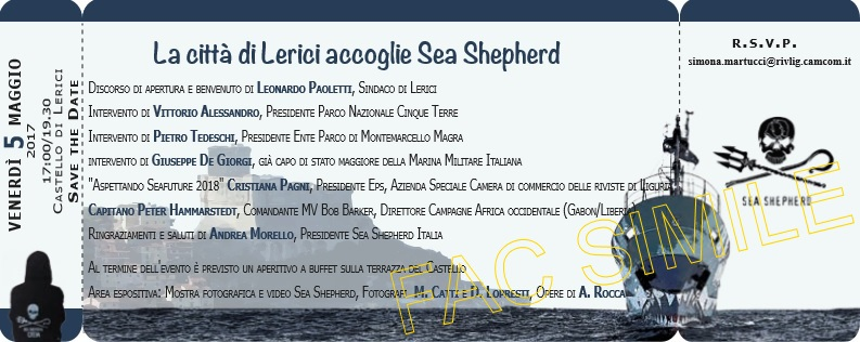 La Citt�� di Lerici accoglie Sea Shepherd