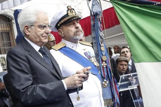 L'ammiraglio De Giorgi con il presidente Mattarella