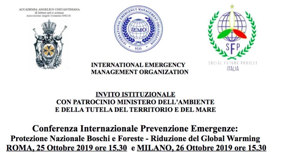 Ammiraglio Giuseppe De Giorgi - Conferenza Internazionale Prevenzione Emergenze: Protezione Nazionale Boschi e Foreste Riduzione del Global Warming