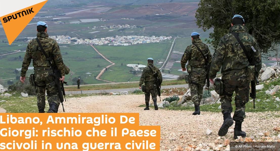 Ammiraglio Giuseppe De Giorgi - Libano, Ammiraglio De Giorgi: rischio che il Paese scivoli in una guerra civile