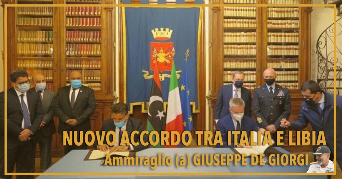Ammiraglio Giuseppe De Giorgi - Nuovo accordo tra Italia e Libia